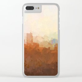 Detroit Michigan Skyline - In the Clouds Clear iPhone Case