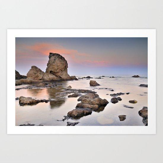 Volcanic coast Art Print
