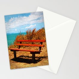 Park Bench On The Headland Stationery Cards