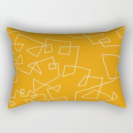 Gold and White Rectangular Pillow