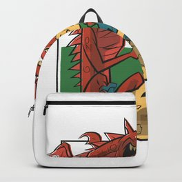 Red Dragon garbage Backpack