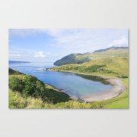 nan lawson Canvas Prints featuring Camas nan Geall Ardnamurchan Scotland by Chris Thaxter