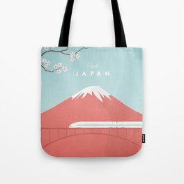 Vintage Japan Travel Poster Tote Bag