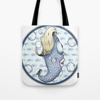 death cab for cutie Tote Bags featuring Cutie by MaestroAmN