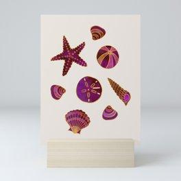 Beach Treasures - Red Mini Art Print