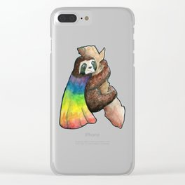 the gay hero sloth Clear iPhone Case