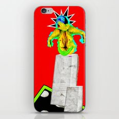 Sculpture On Red iPhone & iPod Skin