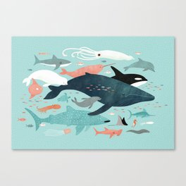 Under the Sea Menagerie Canvas Print