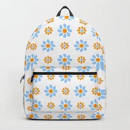 geometric flower 23 blue and orange Backpack