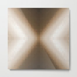 Taupe Pixels  Metal Print