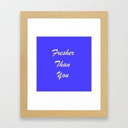 Fresher Thank You : Periwinkle Framed Art Print