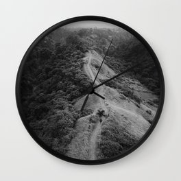 The Valley (Black and White) Wall Clock