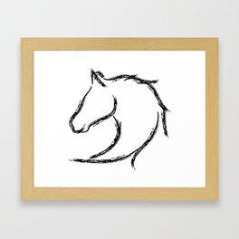 Horse head Framed Art Print