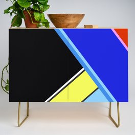 Happy Hues Modern Colorblock Pattern - Black Credenza