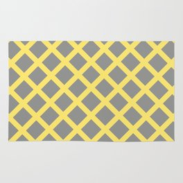 Grey and Yellow Grill Rug