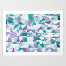 #103. JENNI (Abstract Stained Glass) Art Print