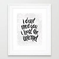 internet Framed Art Prints featuring Internet by Alex McBain