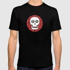 Skull Poppy Black MEDIUM Mens Fitted Tee