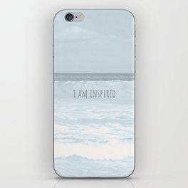 I AM INSPIRED. iPhone Skin