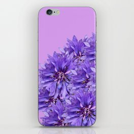Purple Flower Ball Illustration - Lilac Background #decor #society6 #buyart iPhone Skin