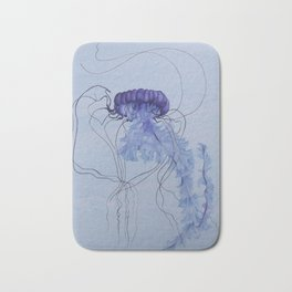 Blue Jellyfish 10 Bath Mat