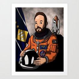 Space Captain Bruce  Art Print