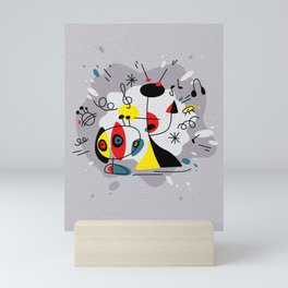 Music inspired by Joan Miro#illustration Mini Art Print