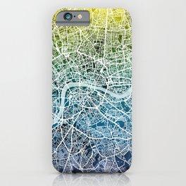 London England Street Map iPhone Case