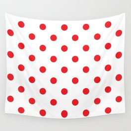 Polka dot fabric Retro vector background or pattern Wall Tapestry