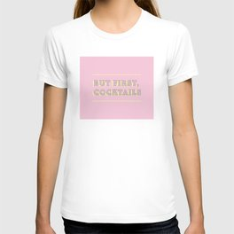 Pastel Pink Party Cocktails T-shirt