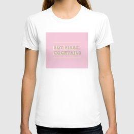 Pastel Pink Party Cocktails T-shirt
