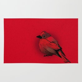 Little Red Bird Rug