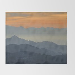 """Sunset at the mountains"". Dreaming... Throw Blanket"