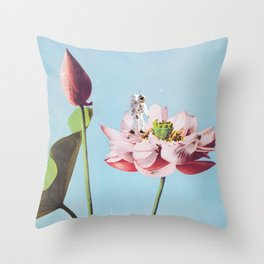 Houston, We Have A Flower! Throw Pillow