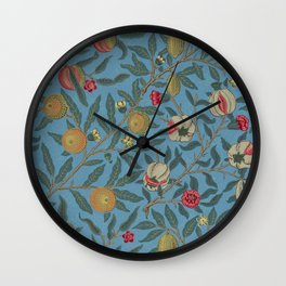William Morris Fruit and Pomegranate Vintage Print Wall Clock