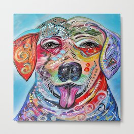 Laughing Labrador Metal Print