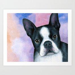 Dog 128 Boston Terrier Art Print