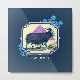 Pastel Baphomet Goat Metal Print