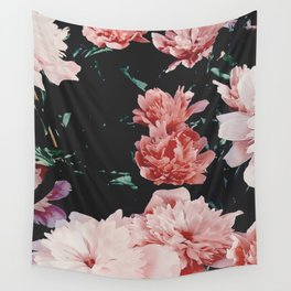low colored poeny garden Wall Tapestry