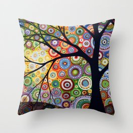 Abstract Landscape Original Painting...VISIONS OF NIGHT, by Amy Giacomelli Throw Pillow