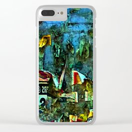 Abstract Vision III Clear iPhone Case