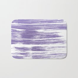 Modern abstract lilac lavender white watercolor brushstrokes Bath Mat