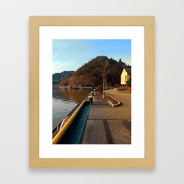 River Danube valley, at the harbour | waterscape photography Framed Art Print