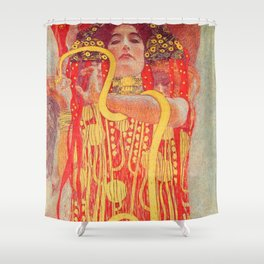 Gustav Klimt - Greek Goddess of Medicine Hygeia Shower Curtain