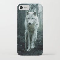 sansa stark iPhone & iPod Cases featuring Wolf by Julie Hoddinott