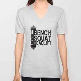 1000 Pounds Bench Squat Deadlift Powerlift Club Fitness Bodybuilder Bodybuilding Unisex V-Neck