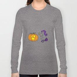 wizzard unicorn pumpkin Halloween Present Daughter Long Sleeve T-shirt