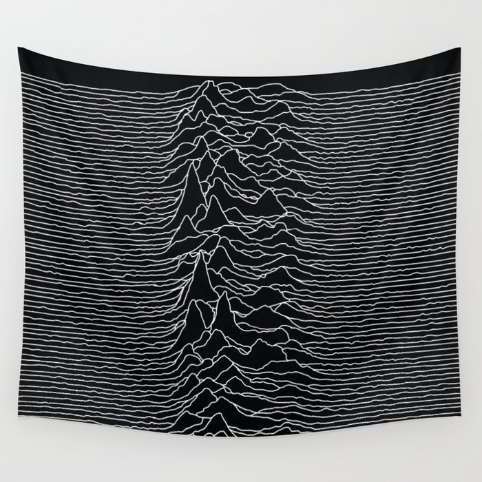 Unknown Radio Waves - Unknown Pleasures Wall Tapestry