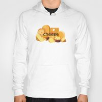 cheese Hoodies featuring cheese by dogbauu