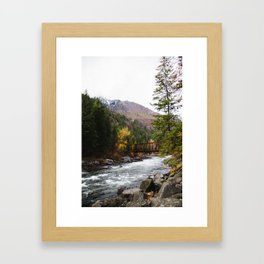 Tumwater Trail ( Vertical view) Framed Art Print